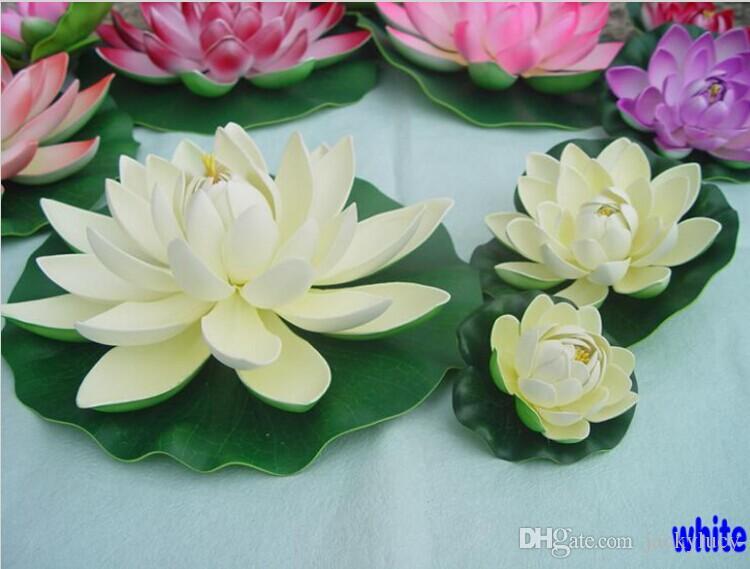 30 cm décorations artificielles fleur de lotus bricolage artisanat réservoir de poissons piscine d'eau faux fleur pour ornement de noël décoration de fête de mariage fournitures
