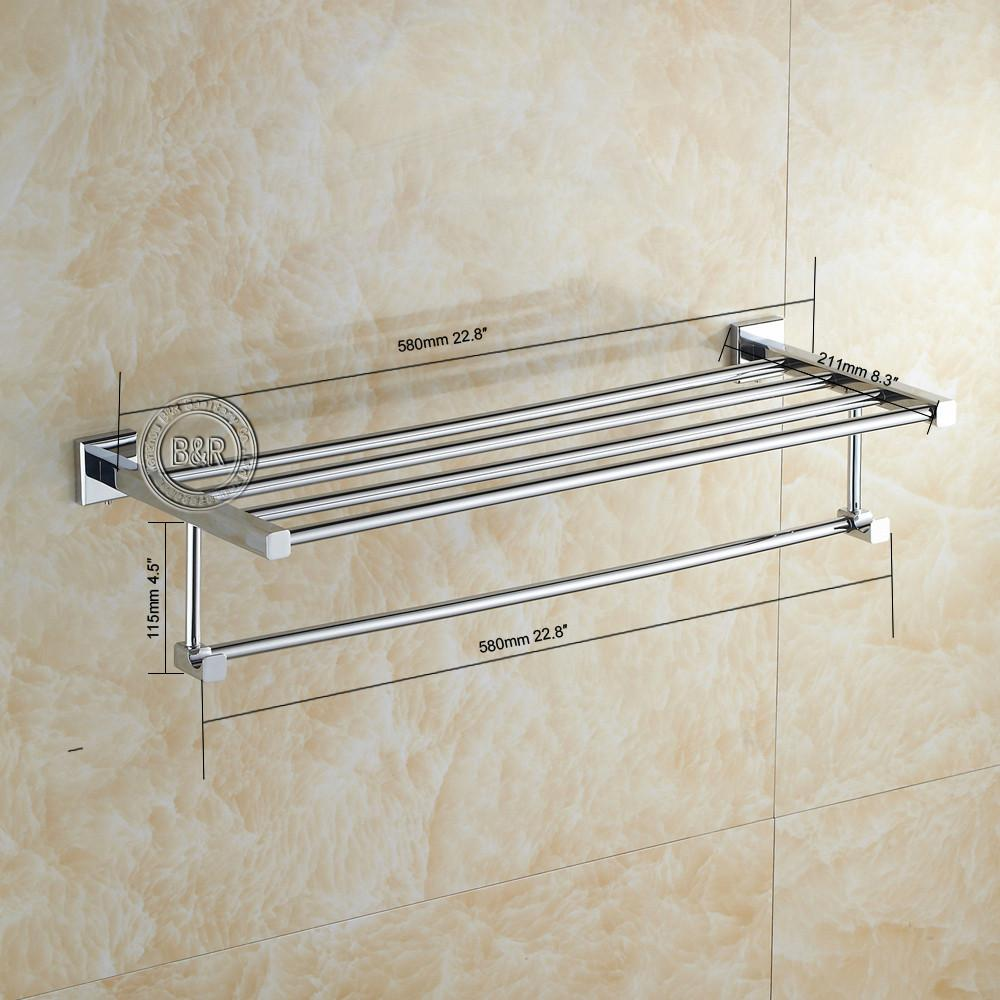 2017 br fashionable towel rack bathroom accessories towel bar chrome br 87001 from brightcn 565 dhgatecom