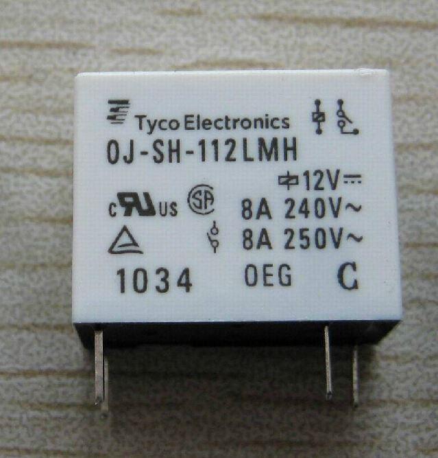 OJ-SH-112LMH 12V 8A 4 pin normally open relay