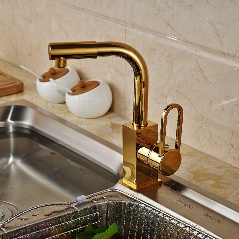 2018 Factory Direct Sale Flexible Kitchen Sink Faucet Golden 360 ...