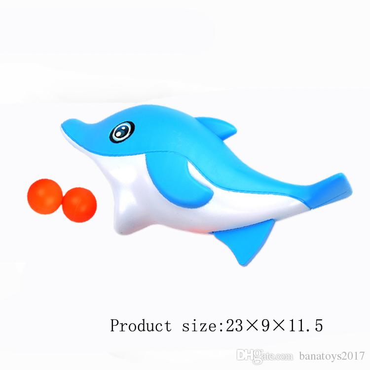 Fun water sports game catch ball toy cute dolphin toy and ball give kids the best birthday present kid bathing toys