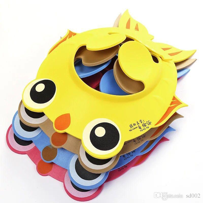 Hohe Elastizität Shampoo-Kappe-sichere Verdickung justierbare Duschhauben-Fisch-Form für Baby-Wäsche-Haar-Schild-Hut nett 3 99qw B