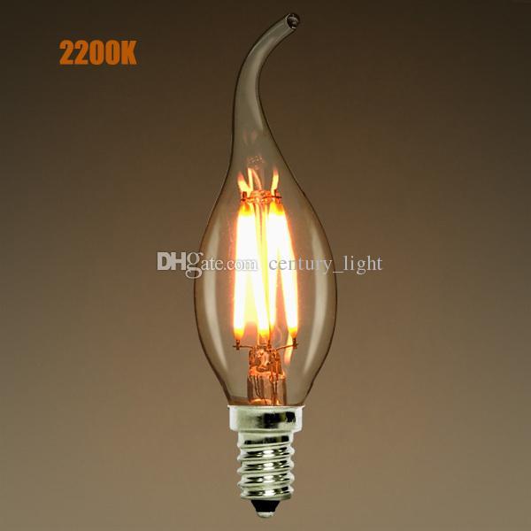 Dimmable,E12 E14,2w 4w 6w Led Filament Candelabra Light Bulb ...