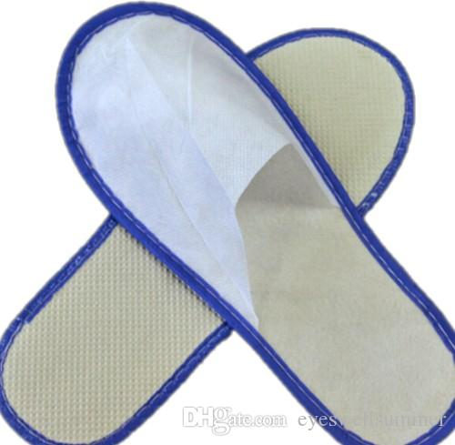 Mais barato agradável qualidade macia one-time chinelos sapato descartável em casa sandálias brancas hotel babouche sapatos de viagem SL001