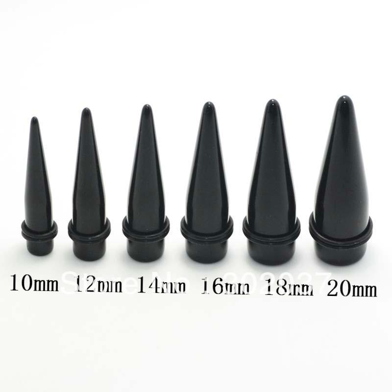 Acrylic Body Piercing Jewelry Black Ear Gauges Big Size Ear Taper ...