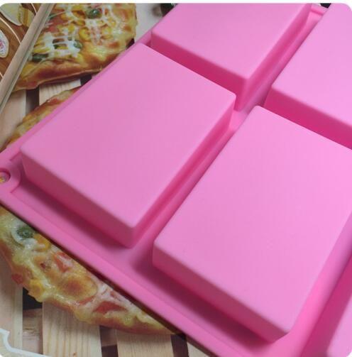8 * 5.5 * 2.5 cm carré moule de cuisson en silicone moule à moule à gâteaux moules à la main moule de savon moule de savon