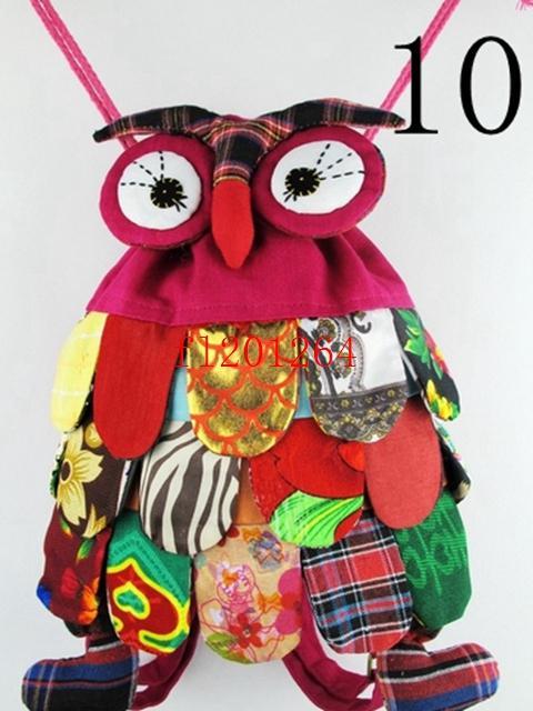 15 pçs / lote Fedex DHL Ems Frete Grátis Nova moda Handmade OWL Bag / Artesanal saco de coruja / crianças mochila mochila