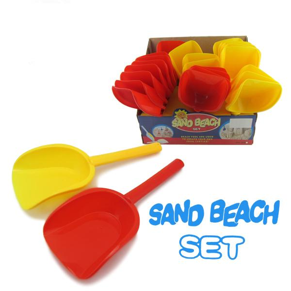 2017 toys summer children's beach toys tools set red and yellow mixed outdoor sand play toys