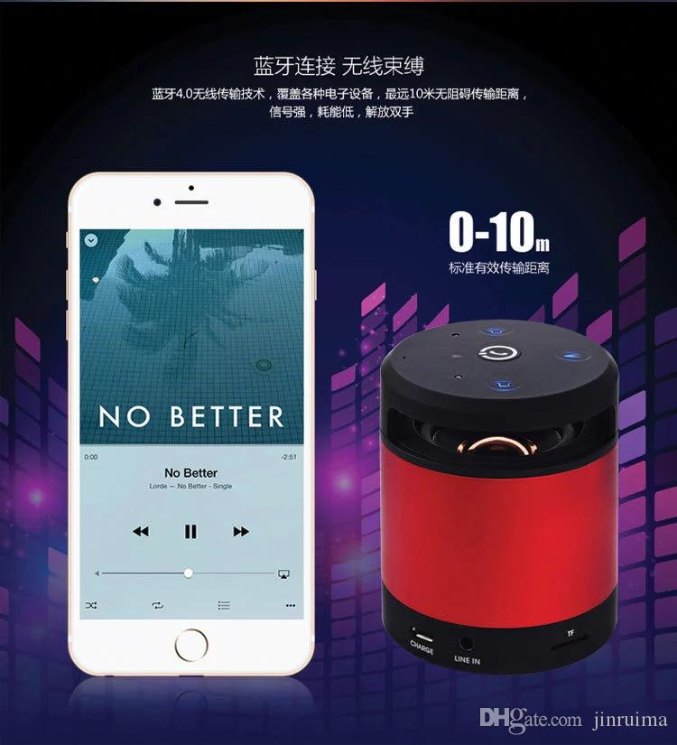 --Wireless Mini Bluetooth Speaker Smart Gesture Recognition Outdoor Portable Card Audio Subwoofer