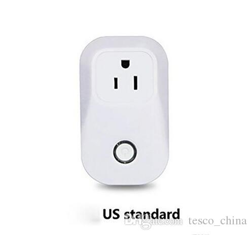 2017 Sonoff S20 Smart Wifi Itead Socket Switch US EU Plug Remote Control Socket Outlet Timing Switch for Smart Home Automation DHL