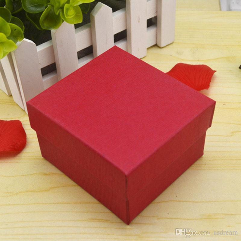 yastık mücevher ekran kutusu saklama kutusu 230.115 ile Moda İzle kutuları siyah, kırmızı kağıt kare izle vaka