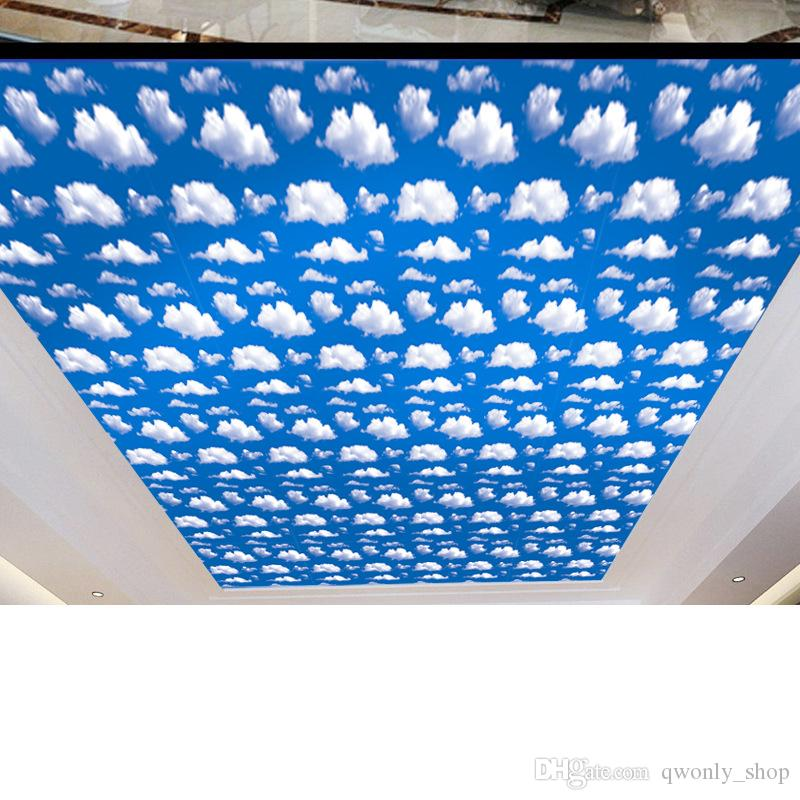 Large 45*100CM Sky Blue White Cloud Wallpaper Natural DIY Home Decoration Wall Sticker Room Decal Sky Self-adhesive Stickers