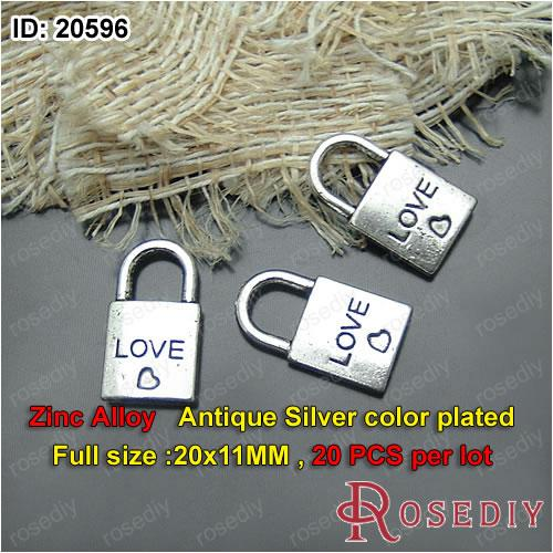 20596Vintage Heart Lock Charms Pendants Diy Findings for Jewelry Necklace or Bracelets Making Random mixed style DIY jewelry making