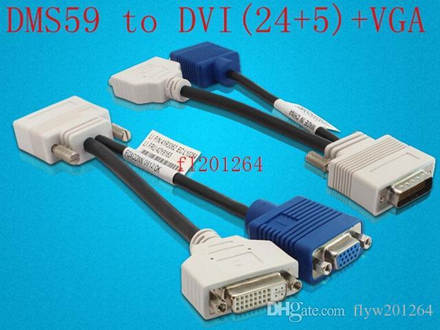 / liberan el envío DMS 59 al cable de alimentación de la tarjeta gráfica de video DVI + VGA DMS 59 al adaptador de video VGA 15P de DVI 24 + 5