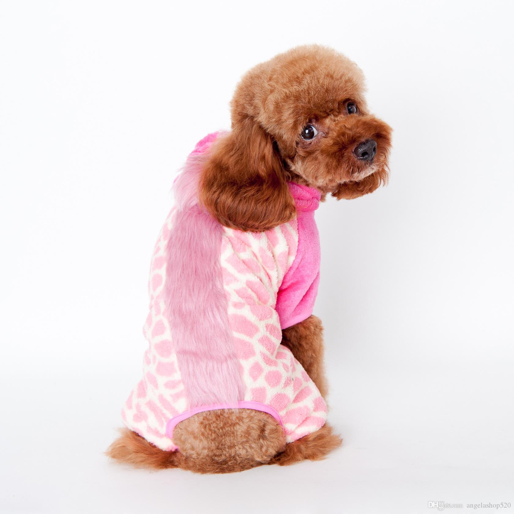 ANGELASHOP vêtements pour animaux de compagnie hiver automne chien vêtements 4 pieds manteau Wonderful grassland crin de cheval vêtements