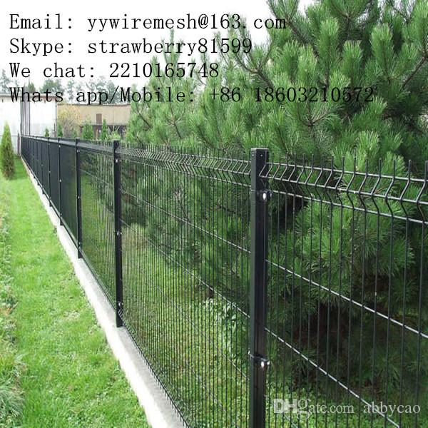 2017 Black Vinyl Coated Wire Mesh Fence, 3 Folds, 50*100mm In ...