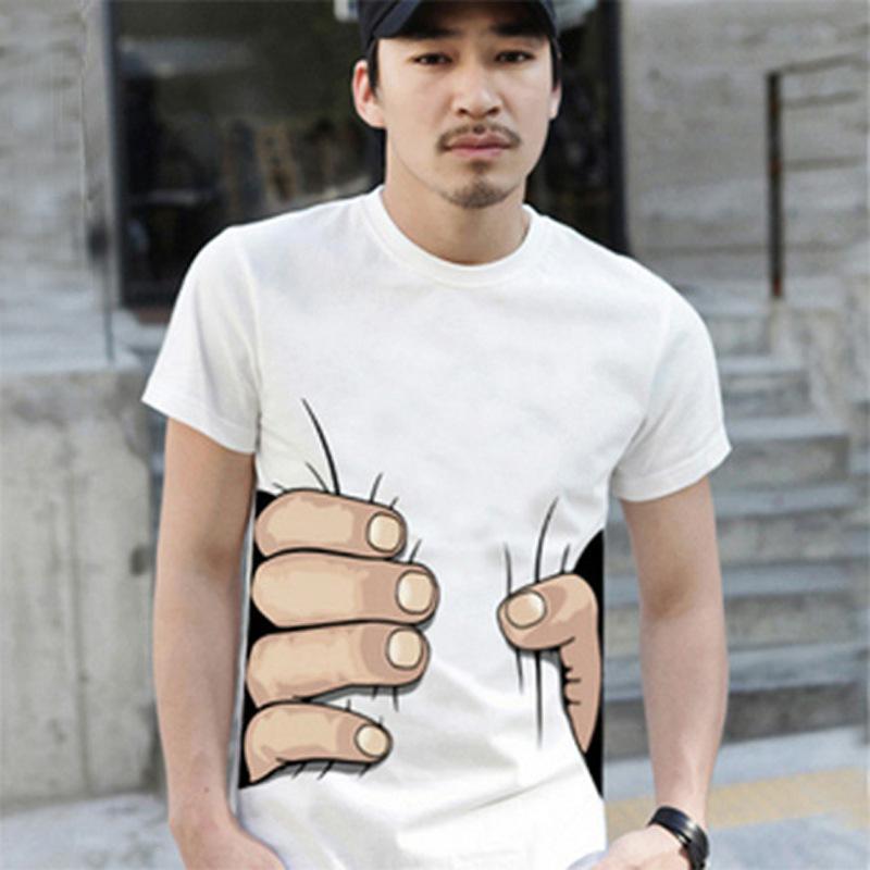Fashion 2015 3d Big Hand Printed T Shirts Men Women Clothesual ...