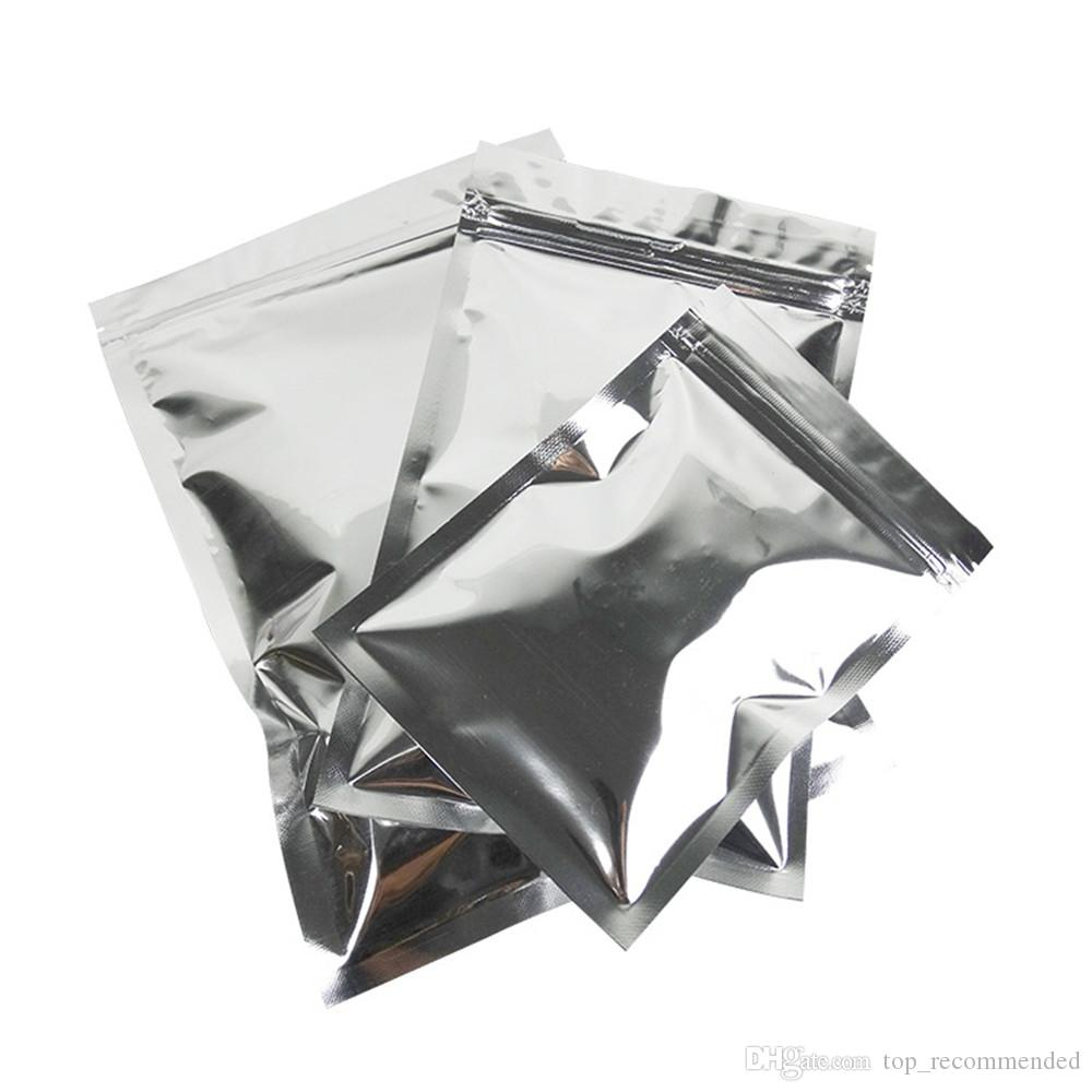 Großhandel Glänzende Silber Aluminiumfolie Zip Lock Mylar Tasche ...
