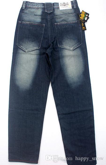 I nuovi jeans hip-hop larghi di formato più gli uomini stampano i pantaloni di ballo hip-hop di stampa della stampa i jeans di stile allentato i jeans più popolari gli uomini
