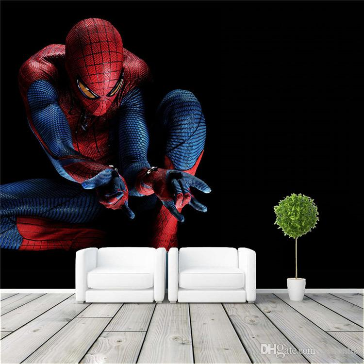 Elegant Amazing Spider Man Wall Mural Cool Photo Wallpaper Wall Stickers Silk Movie  Poster Living Room Bedroom Childrenu0027s Room Super Hero Free Ship