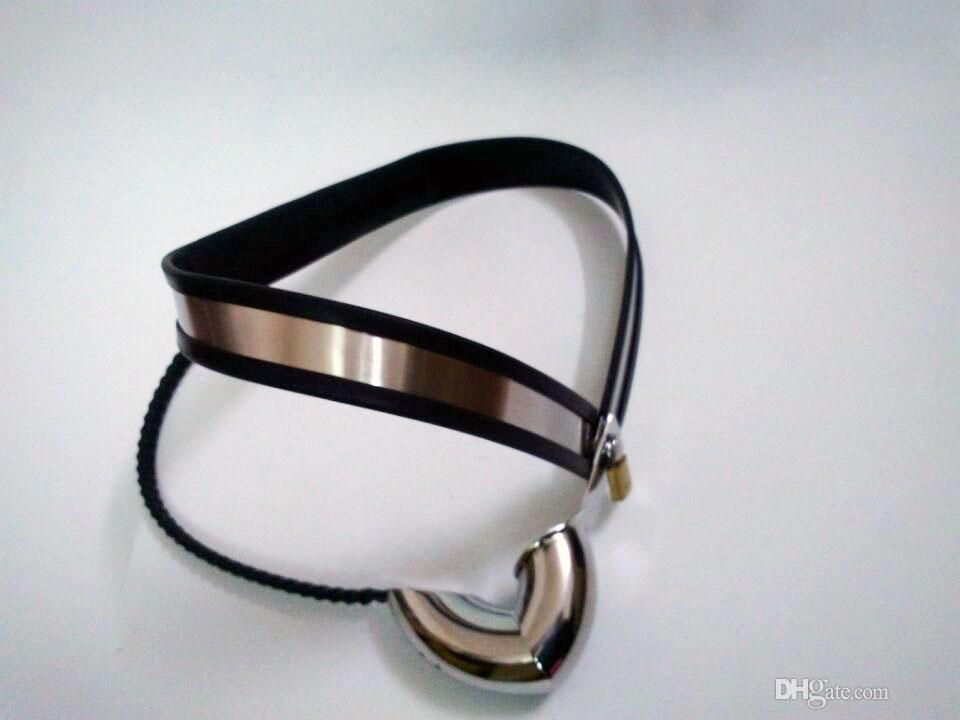 New design Male Adjustable Model-Y Y-type stainless steel chastity belt with black cord