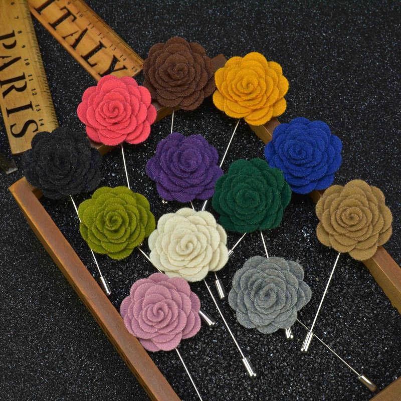 Fashion Flower Wedding Brooch Bouquet Men Suits Accessories Mens Brooches Pins Upscale Insert Lapel Pin