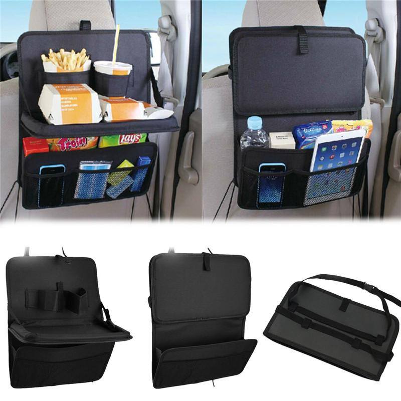 Auto Car Storage Bags Folding Table Drink Food Cup Tray Holder