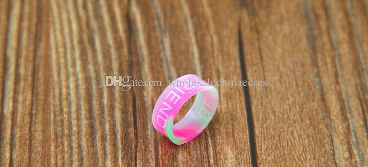 Bande de silicium vape beauté anneau pour mécanique mods rba rda atomiseur protecteur décoratif antidérapant mech mod e cig