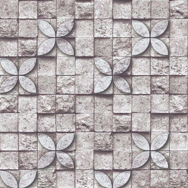 Self Adhesive 3d BrickBlockStone Wallpaper Roll For Kitchen