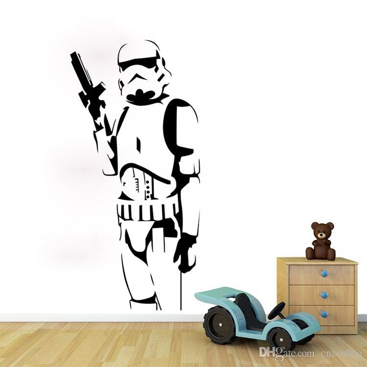 Star Wars 7 Large Wall Decals Silhouette Diy Home Decoration Mural
