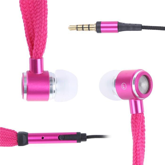 Mic Ile 2015 Metal Ayakkabı Bağı Kulaklık 6 Renkler Kulaklıklar LG Samsung iphone MP3 MP4 ambalaj ile US02
