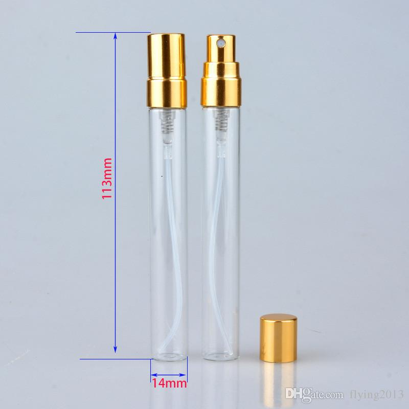 Mini 5 ML 10 ML Botellas de Perfume de Vidrio Portátil Rellenable Fragancia Botella de Perfume Atomizador Envases Cosméticos para Fiesta de Viaje herramienta de Maquillaje