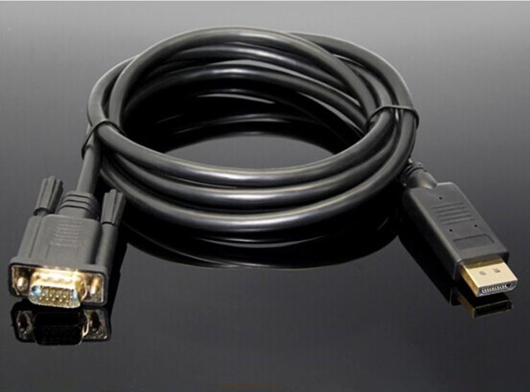 Hot New Displayport TO VGA cable DP TO VGA cable 1.8 m 1080p Adapter For Computer TV projector DRV DHL free shipping