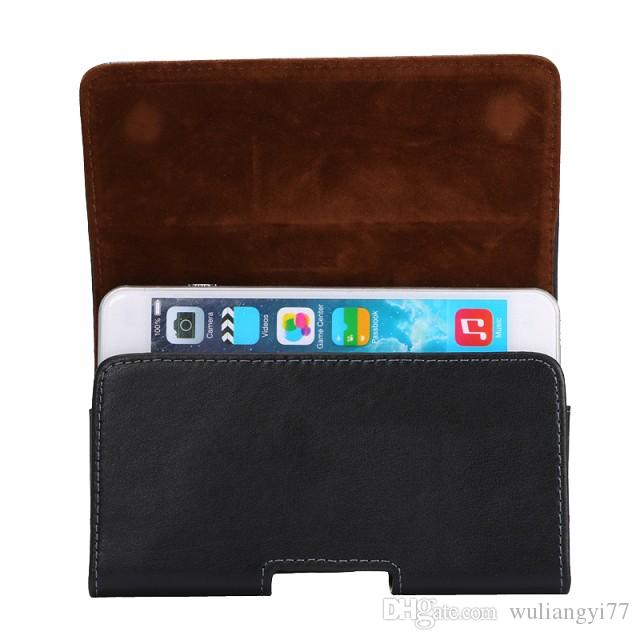 Genuine Leather Universal Horizontal Holster cellphone Cases with Belt Clip for iphone 6 6S plus and more cellphone Cases with Magnet