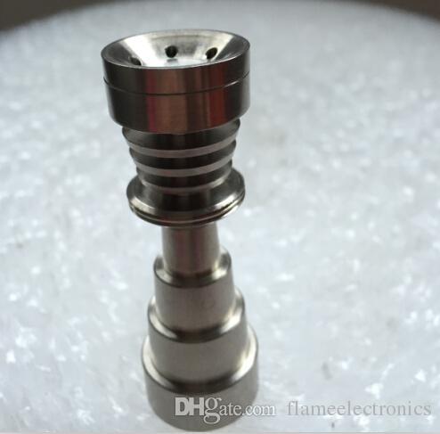 6-в-1 универсальный титановый гвоздь без купола Титановые гвозди GR2 10мм 14мм 18мм стеклянная трубка для бонга 6-в-1 титановая накладка для ногтей