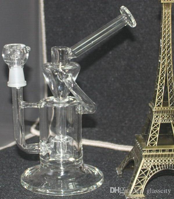 Hot 8.7 pouces en verre Recycler fonction vortex Recycler Verre concentrés plates-formes pétrolières