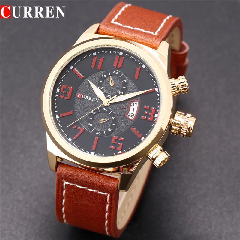 c176a03f3ee0 Compre Curren 8200 Luxury Fashion Casual Men Watches Calendar Reloj  Deportivo Cuarzo Relojes De Pulsera Masculinos A  38.82 Del No1shopping