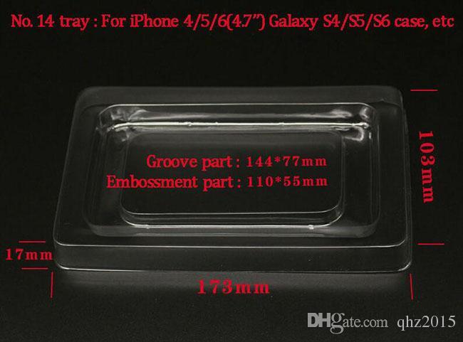 175 * 105 * 25 мм большой размер модный дизайн с блистерной бумаги в розницу черный пакет для iphone 6 плюс кожаный чехол S3 S4 Чехлы для мобильных телефонов