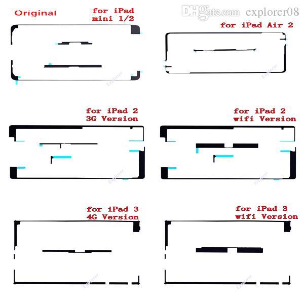 100% Original Genuine Touch Screen Adhesive Sticker Strip for iPad mini 2 3 4 Air 5 ipad 6 3G 4G WiFi