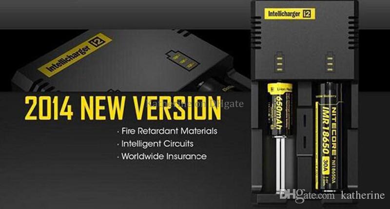 Оригинальный Nitecore I2 I4 D2 D4 UM10 UM20 универсальный Intellicharger ЖК-дисплей E сигареты зарядное устройство для 18650 18350 18500 14500 Li-on батареи