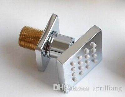 バスルームスパバスシャワーのための4ピース真鍮スクエアマッサージシャワーボディジェットスプレーヘッド