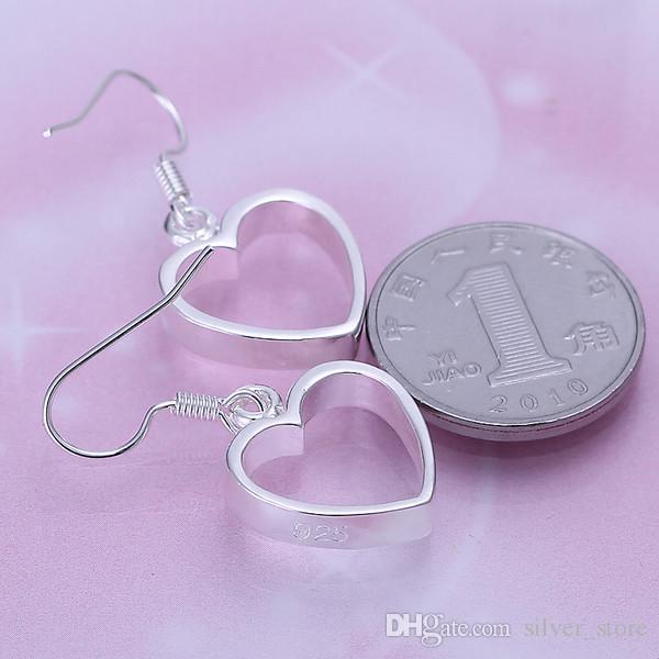 브랜드의 새로운 스털링 실버 플레이트 플랫 중공 귀걸이 DFMSE047, 여성 925 실버 매달려 샹들리에 귀걸이 10쌍 많은