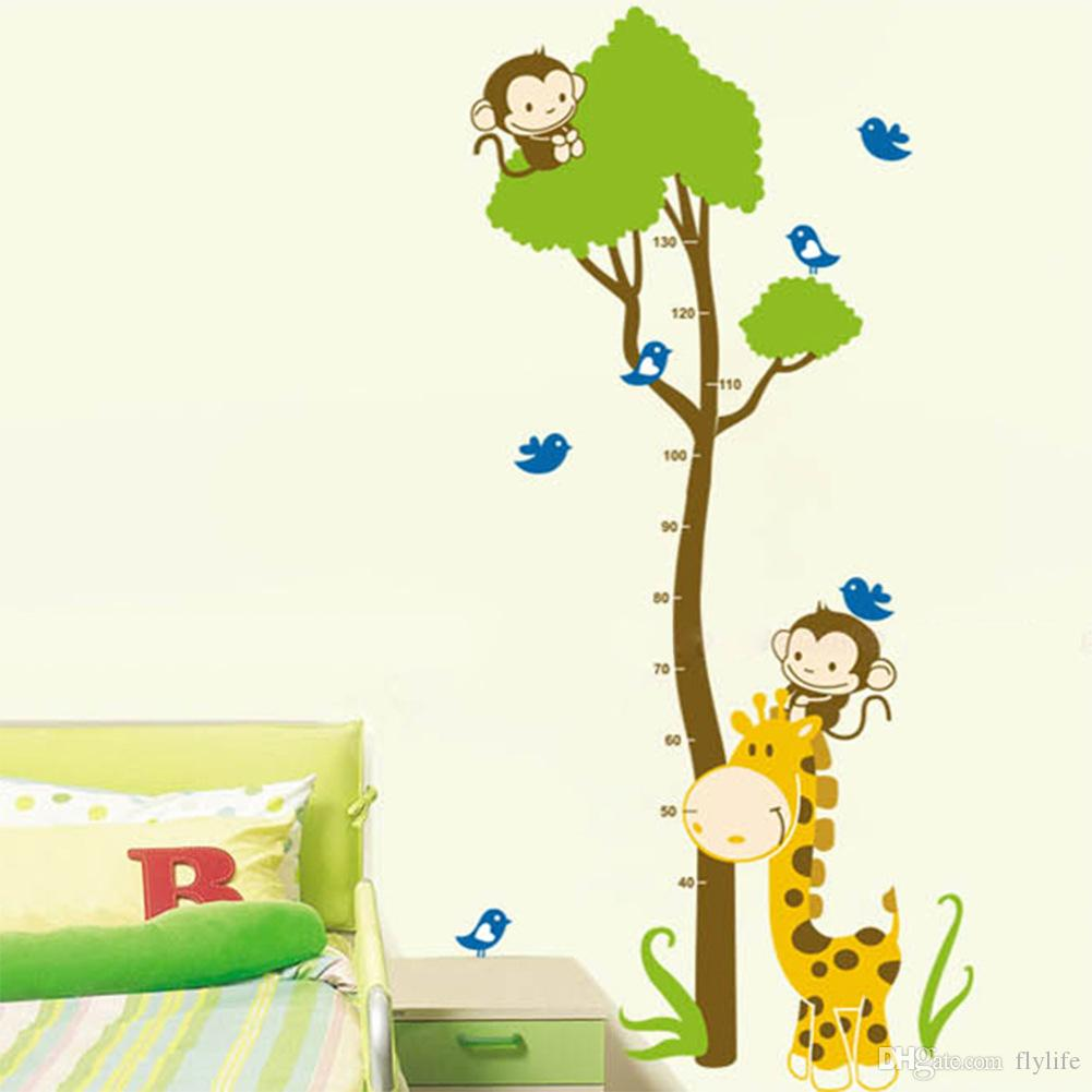 Animal wall stickers giraffe kids growth chart height measure for see larger image nvjuhfo Image collections