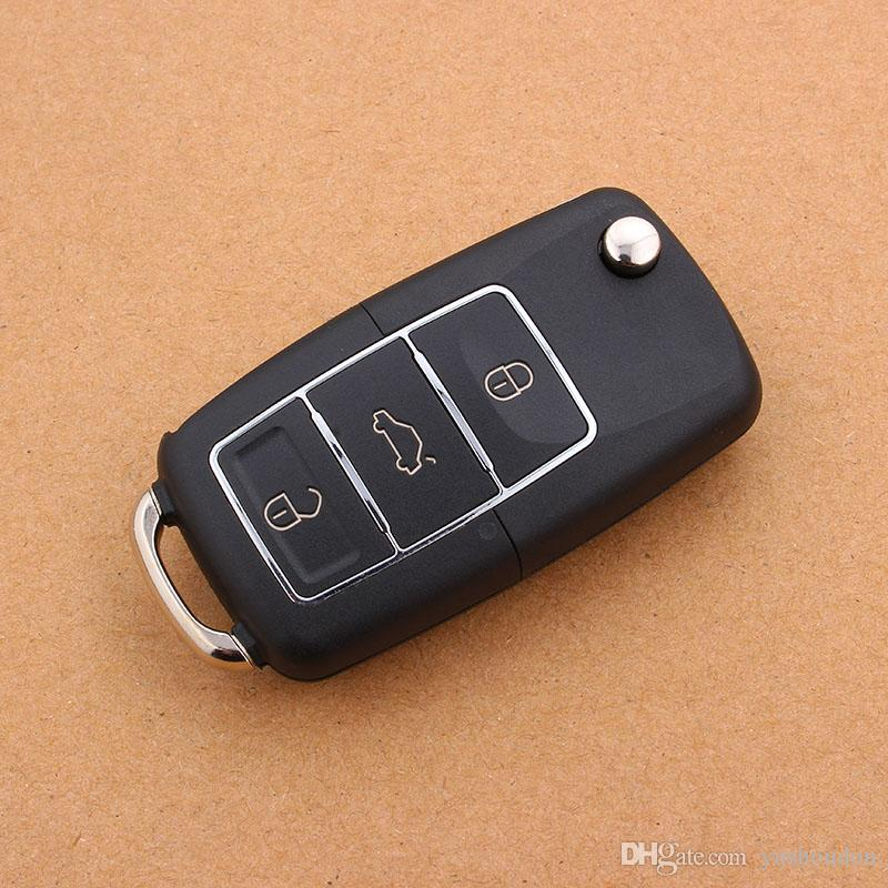 3 Buttons Flip Folding Car Key Shell Replacement Car Key Case Cover for VW Volkswagen Jetta Golf Passat Beetle Polo Bora