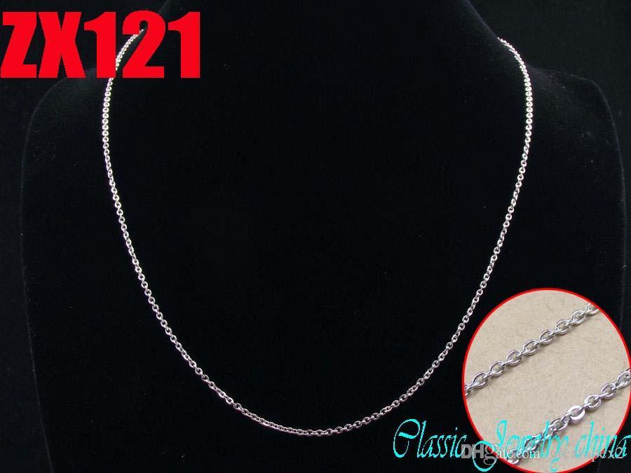 Chaîne en forme de O de collier en acier inoxydable de haute qualité de 1,5 mm avec la promotion de la chaîne de chandail de dame des femmes promotion ZX121