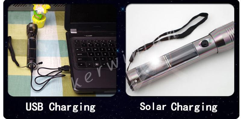 Solar Power Lanterna Recarregável de Alta luminosa Lâmpada Tocha LED luz Camping ao ar livre Lanterna Tocha lanternas com bateria embutida