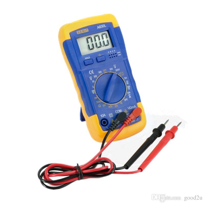 도매 공장 가격 DMM 디지털 멀티 미터 A830L 전압계 Ohmmeter HFE 현재 테스터 LCD 백라이트 Ammeter Multitester