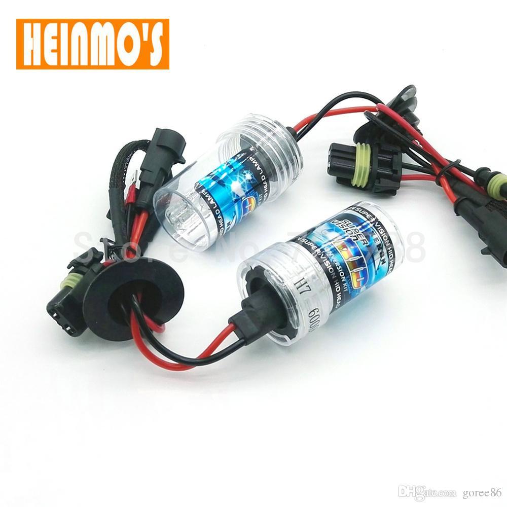 2* 55w H7 HID Xenon bulb Car Headlight Replacement Lamps H11 6000k 4300k 8000k H8 H11 H1 9005 9006 hb3 hb4 xenon Headlamp source 12V