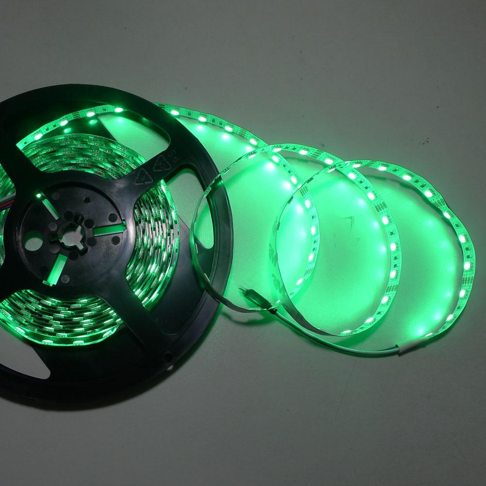 Tanie nowe 5 M elastyczny pasek LED RGB 16 stóp 5050 SMD 150 LEDS Non Waterproof 30 LED / Meter 16 COLUR LED Light CE Rosh Kryty Lampa