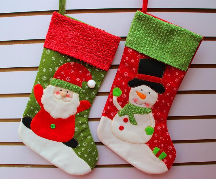 Christmas Stockings Santa Snowman Christmas Socks Gift Bag For ...